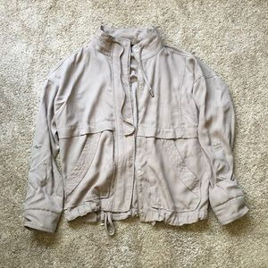F21 taupe brown casual boyfriend fit jacket S